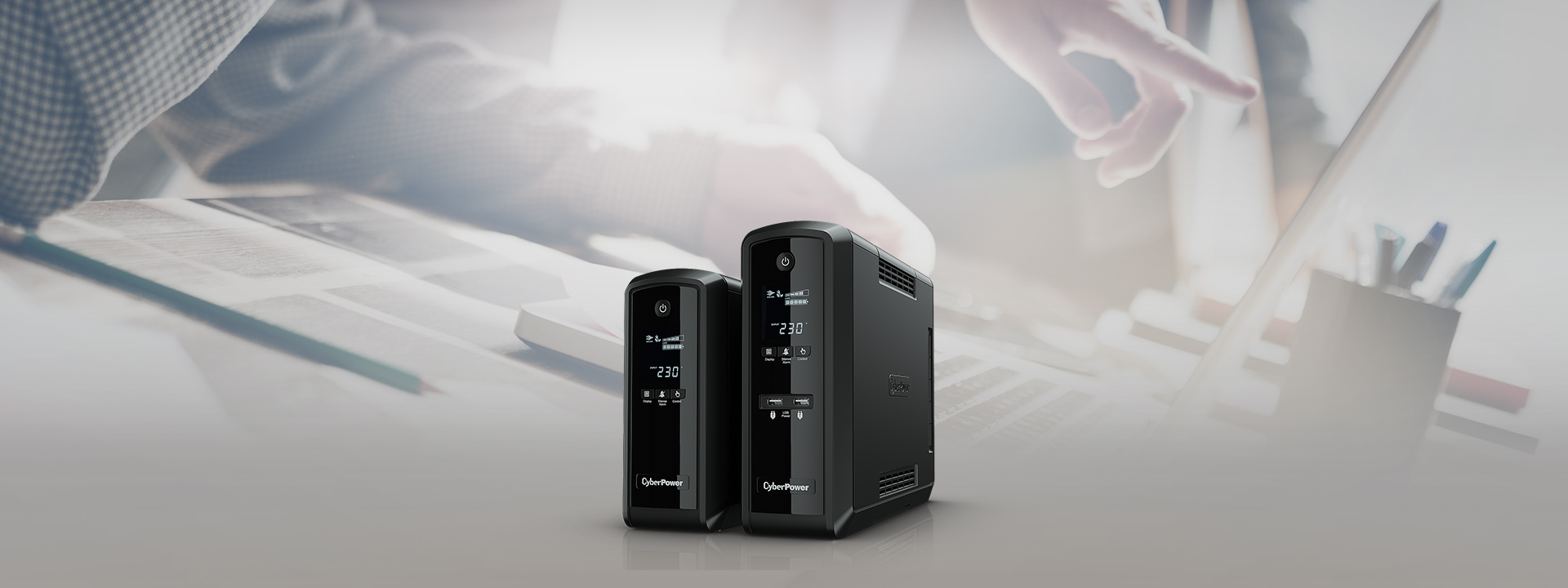 CyberPower's PFC Sinewave UPS features pure sine wave output, which is ideal for equipment requiring active PFC power source